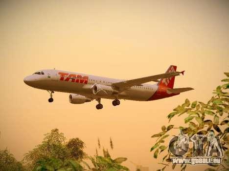 Airbus A320-214 TAM Airlines für GTA San Andreas Seitenansicht