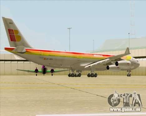 Airbus A340 -313 Iberia pour GTA San Andreas vue de droite