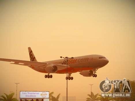 Airbus A330-200 Jetstar Airways für GTA San Andreas obere Ansicht