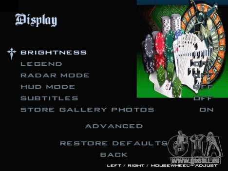 Menu Gambling für GTA San Andreas fünften Screenshot