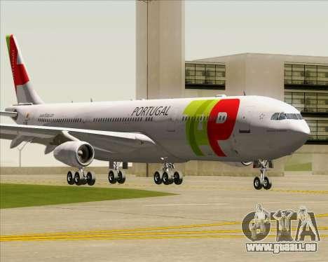 Airbus A340-312 TAP Portugal für GTA San Andreas linke Ansicht