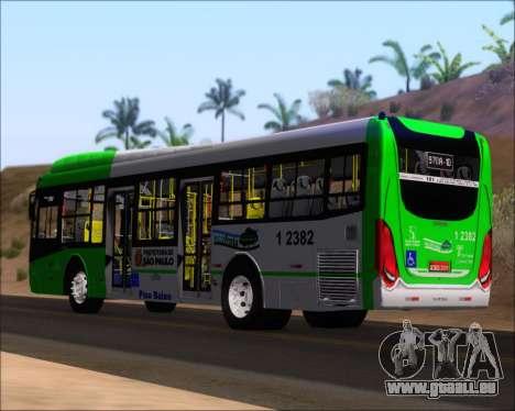 Caio Induscar Millennium BRT Viacao Gato Preto für GTA San Andreas zurück linke Ansicht
