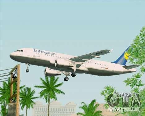 Airbus A320-211 Lufthansa pour GTA San Andreas vue intérieure