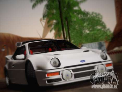 Ford RS200 Evolution 1985 pour GTA San Andreas vue arrière