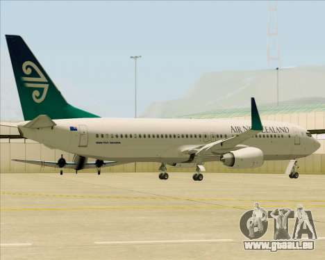 Boeing 737-800 Air New Zealand pour GTA San Andreas vue de côté