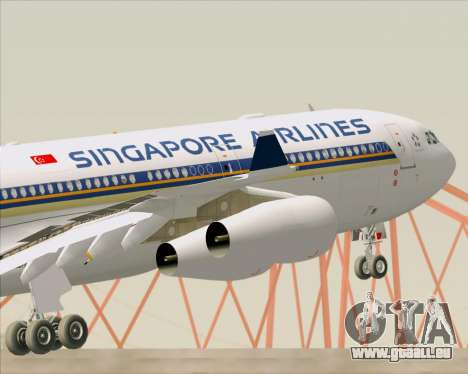 Airbus A340-313 Singapore Airlines pour GTA San Andreas roue