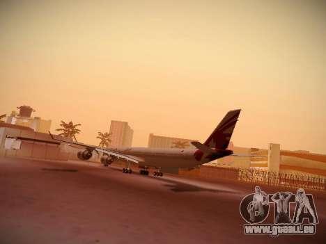 Airbus A340-600 Qatar Airways für GTA San Andreas rechten Ansicht