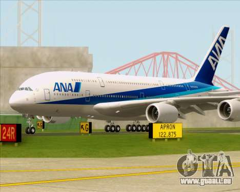 Airbus A380-800 All Nippon Airways (ANA) für GTA San Andreas Rückansicht