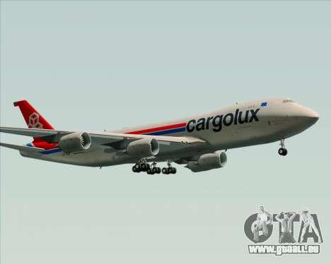 Boeing 747-8 Cargo Cargolux für GTA San Andreas obere Ansicht