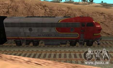 Santa Fe Superchief F7A pour GTA San Andreas laissé vue