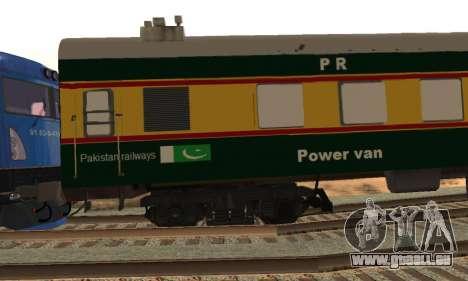 Pakistan Railways Train für GTA San Andreas Rückansicht