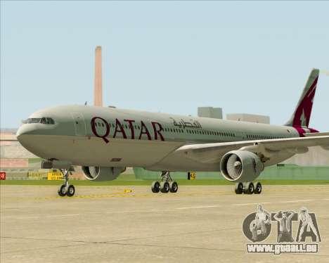 Airbus A330-300 Qatar Airways pour GTA San Andreas sur la vue arrière gauche