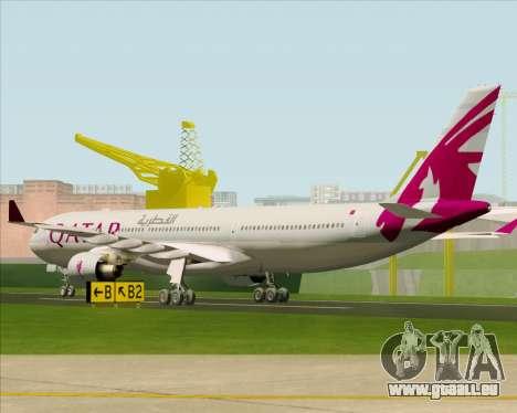 Airbus A330-300 Qatar Airways pour GTA San Andreas vue de droite