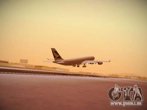 Airbus A340-300 Cathay Pacific pour GTA San Andreas vue intérieure