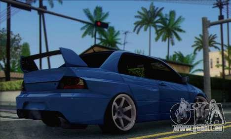Mitsubishi Lancer Evolution IIX für GTA San Andreas linke Ansicht
