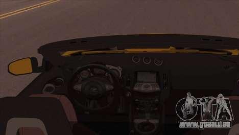 Nissan 370Z Roadster für GTA San Andreas zurück linke Ansicht