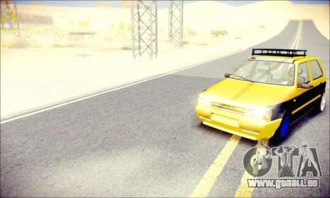Fiat Uno pour GTA San Andreas vue de droite