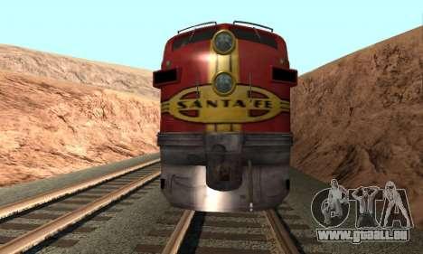 Santa Fe Superchief F7A pour GTA San Andreas vue de droite