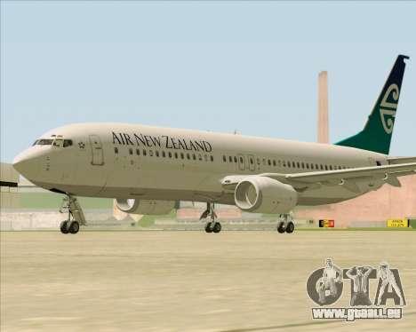 Boeing 737-800 Air New Zealand für GTA San Andreas Rückansicht