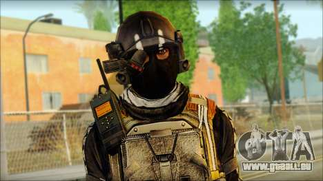 Mercenaire (SC: Blacklist) v2 pour GTA San Andreas troisième écran