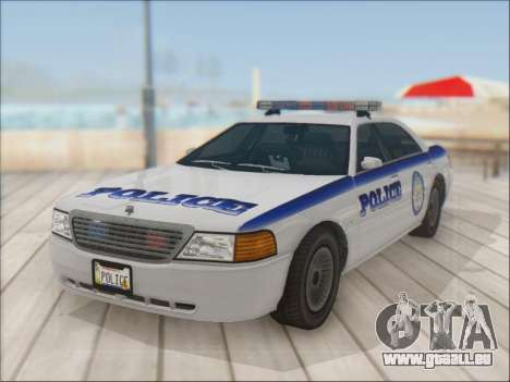 Admiral Police für GTA San Andreas Rückansicht