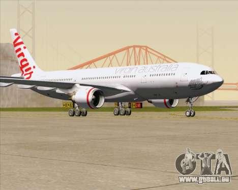 Airbus A330-200 Virgin Australia pour GTA San Andreas laissé vue