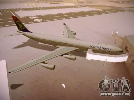 Airbus A340-300 South African Airways pour GTA San Andreas vue de dessous