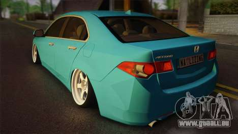 Honda Accord 2010 Hellaflush für GTA San Andreas linke Ansicht