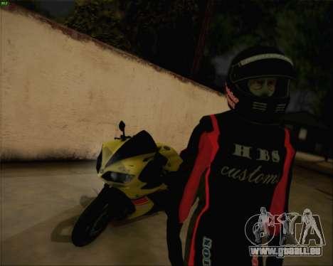 Yamaha R1 HBS Style pour GTA San Andreas laissé vue
