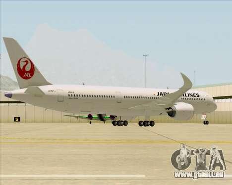 Airbus A350-941 Japan Airlines für GTA San Andreas Rückansicht