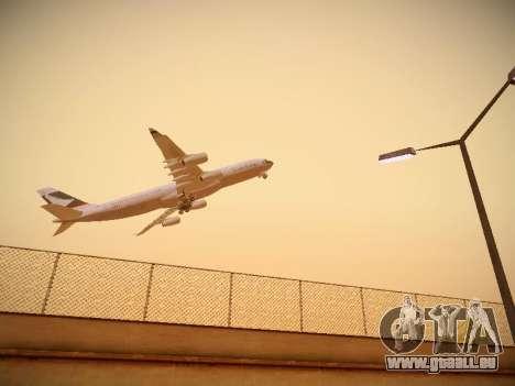 Airbus A340-300 Cathay Pacific für GTA San Andreas zurück linke Ansicht
