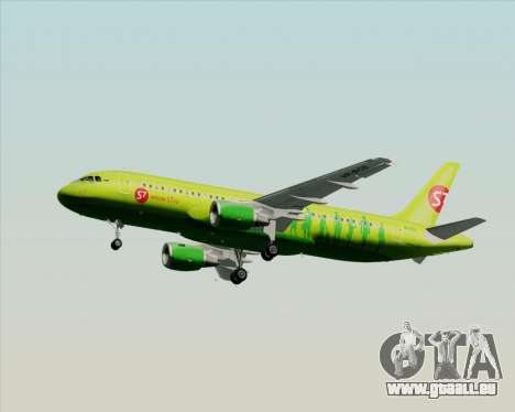 Airbus A320-214 S7-Siberia Airlines für GTA San Andreas obere Ansicht