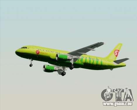 Airbus A320-214 S7-Siberia Airlines pour GTA San Andreas vue de dessus