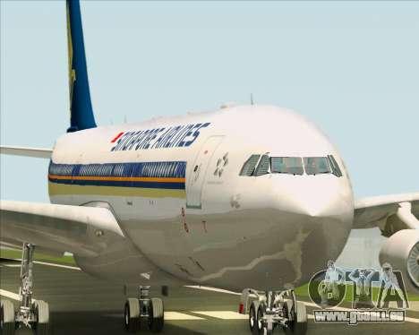 Airbus A340-313 Singapore Airlines pour GTA San Andreas moteur