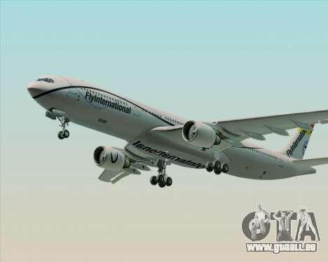 Airbus A330-300 Fly International für GTA San Andreas Unteransicht