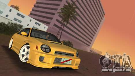 Subaru Impreza WRX 2002 Type 5 für GTA Vice City Rückansicht