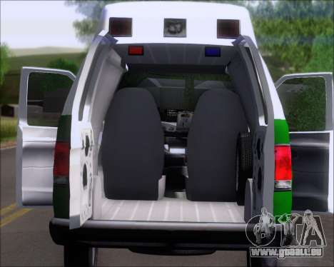 Ford E-150 Labocar pour GTA San Andreas vue arrière