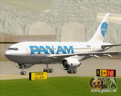 Airbus A310-324 Pan American World Airways für GTA San Andreas linke Ansicht