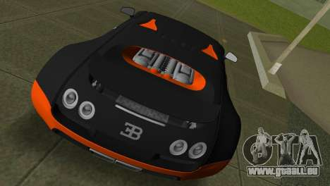 Bugatti Veyron Super Sport pour une vue GTA Vice City de la droite