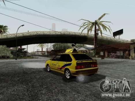 VAZ 2114 TMK postcombustion pour GTA San Andreas sur la vue arrière gauche
