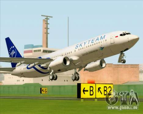 Boeing 737-86N Garuda Indonesia für GTA San Andreas Rückansicht