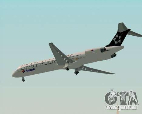 McDonnell Douglas MD-82 Spanair für GTA San Andreas obere Ansicht