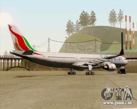 Airbus A330-300 SriLankan Airlines pour GTA San Andreas vue arrière