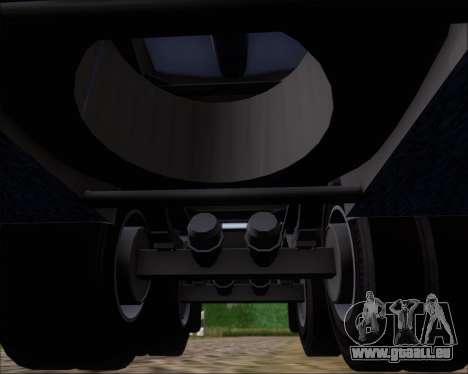 Trailer tank Carro Copec für GTA San Andreas Unteransicht