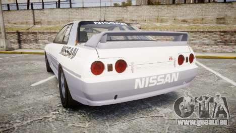 Nissan Skyline GTR R32 pour GTA 4 Vue arrière de la gauche