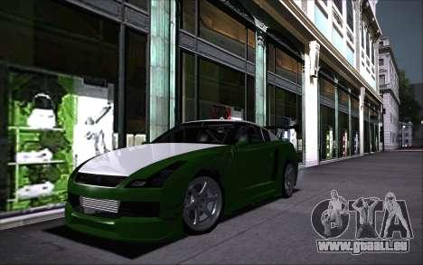 Elegy RH8 Tunable v1 pour GTA San Andreas vue arrière