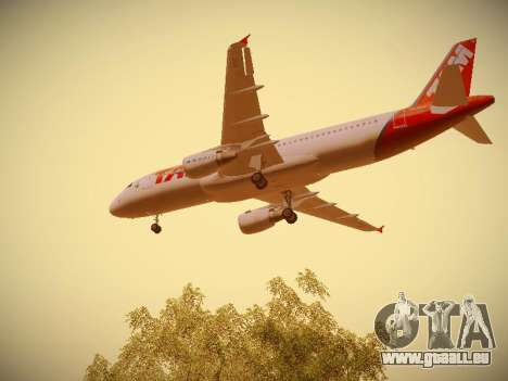 Airbus A320-214 TAM Airlines pour GTA San Andreas salon
