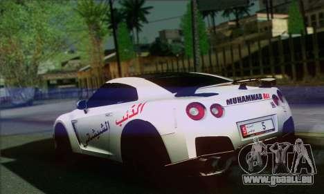 Nissan GT-R Muhammad Ali für GTA San Andreas linke Ansicht