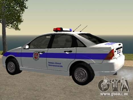Ford Focus Police de la région de Nijni Novgorod pour GTA San Andreas laissé vue