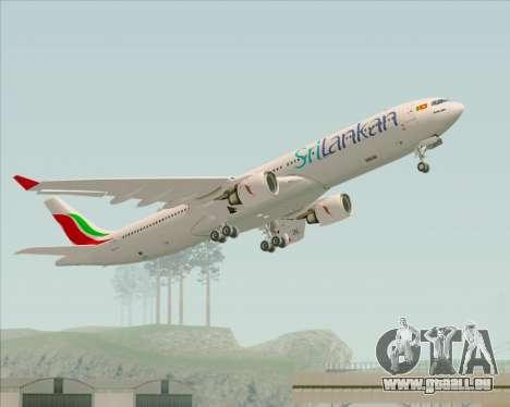 Airbus A330-300 SriLankan Airlines pour GTA San Andreas vue de dessous